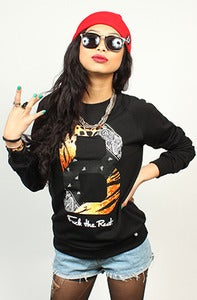 Image of Paisley Tiger Crew Black Women's