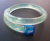 Image of LAST FEW - Stripey and Glitter Knitwit Bangles