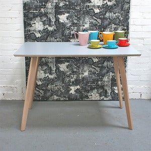 Image of New! Perky Formica Table / Desk in Grey