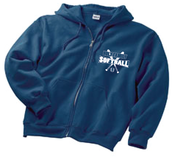 Image of Softball Zip-Hoodie