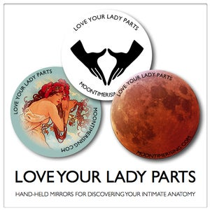 "Image of ""Love Your Lady Parts"" Hand-Held Mirrors"