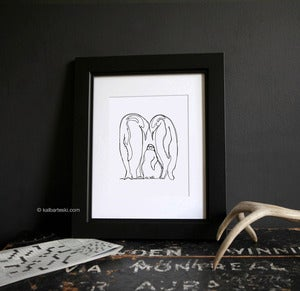 Image of PENGUIN LOVE print