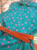Image of Cute 1970s Green Summer Shift Dress