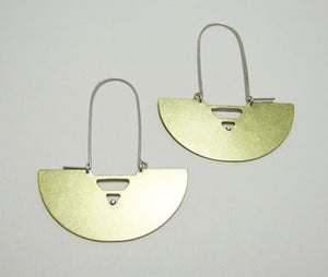 Image of Quarter Moon Earrings