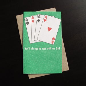 Image of 1719 - aces father's day letterpress card