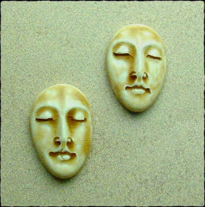 Image of Pair of Medium Almond Face Stones