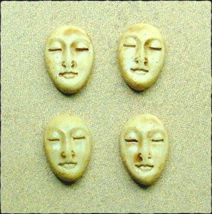 Image of Set of Four Small Almond Face Stones