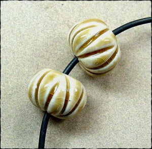 Image of Pumpkin Accent Bead Pairs