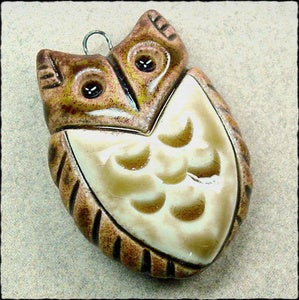 Image of Round Owl Pendant