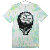 Image of 420 Friendly Alien Bro T-shirt | Black on Tie Dye