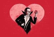 Image of Dracula Valentine (Original Giclee Fine Art Print)