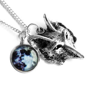 Image of Wolf & Moon Necklace