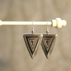 Image of Silver Triangle Earrings