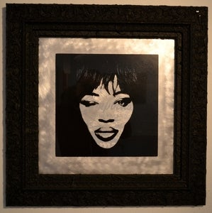 "Image of ""Naomi Campbell"" Screen-print on Aluminium by K-GUY"