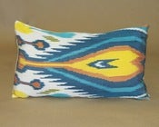 Multi-color Ikat pillow