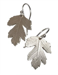 Image of Botanic: hawthorn leaf earring