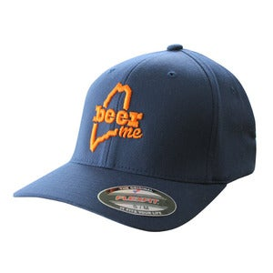 Image of BeerME Flexfit Hat (Navy)