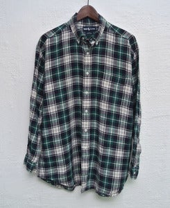 Image of Ralph Lauren plaid linen shirt (L)
