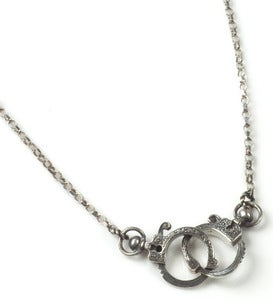 Image of Mini Oxidised Silver/Polished Handcuff Necklace