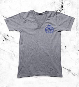 Image of Crest V-Neck Grey