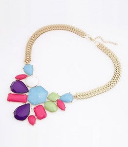 Image of STATEMENT PASTEL NECKLACE
