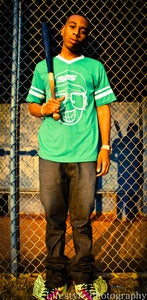 Image of Secret Scientist Baseball  Stripe Tee - Green
