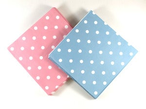 Image of Dusky Pink & Blue Spotted Napkins