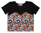 Image of Flower T with Bust Line (black)