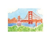 Image of 8x10 Print: Cupcake in San Francisco