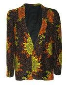 Image of Fair Trade Floral Print Blazer Jacket
