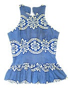 Image of Fair Trade African Print Peplum Top Blue