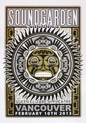 Image of SOLD OUT - Soundgarden - Vancouver - Silkscreen Poster - Silver Varient