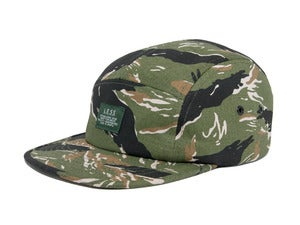 Image of LESS - Simple Logo Camp Cap(Tiger Stripe-Olive)