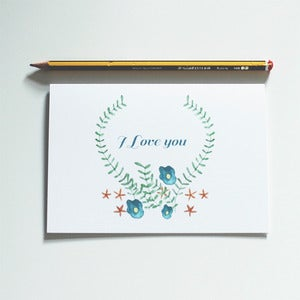 Image of NEW - I Love You Greetings Card