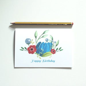 Image of NEW - 'Happy Birthday' - Floral Greetings Card