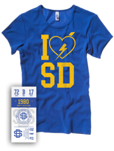 Image of Love SD Ladies Tee (Bella + Canvas)