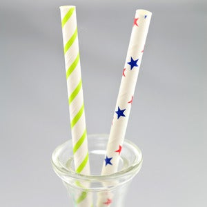 Image of Stars + Stripes Paper Straws