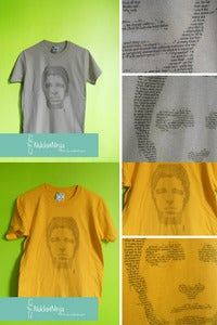 Image of Noel Gallagher's face t-shirt 1 ink!