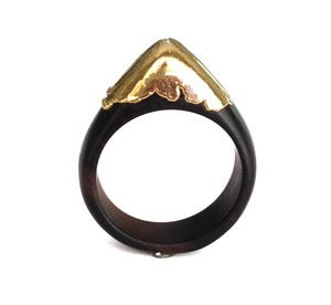 Image of Gold dipped wood Ring