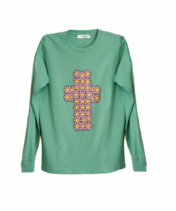 Image of FLOWER CROSS JADE JERSEY