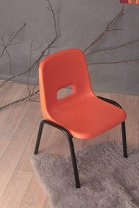 Image of Chaise d'école maternelle orange