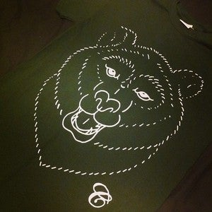 Image of 'Just a t-shirt I designed with my bear hands.' - Forest green
