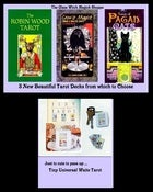 Image of 4 Tarto Decks: Pagan Cats ~ Crow's Magick ~ Robin Wood Tarot & Tiny Universal Deck