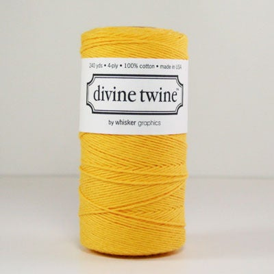 Image of Yellow Solid Divine Twine