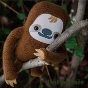 "Image of Flat Manny the Sloth (Classic 10"" tall) Handmade"