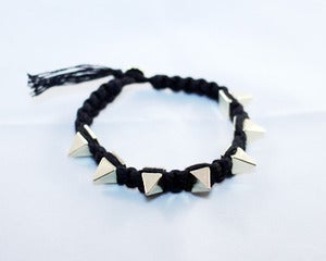 Image of Black / Gold Spike Nylon Bracelet