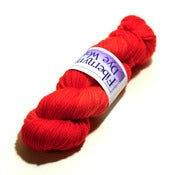 Image of Scarlet Semi-Solid Aran - 80/10/10 SW Merino/Cashmere/Nylon - Snuggle Base