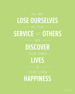 Image of As We Lose Ourselves in the Service of Others - Printable PDF