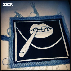 Image of SICK Doob Patch - Black & Denim.
