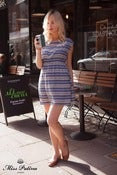 Image of Betty Blue Dress (blue stripe)